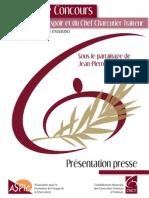 CNCT - Dossier de Presse - 19ème Concours du Jeune Espoir et du Chef Charcutier Traiteur
