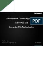 Automatische Content-Aggregation mit TYPO3 und Semantic-Web-Technologien