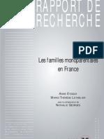 Les familles monoparentales en France - Centre d'Etudes de l'Emploi - juin 2007