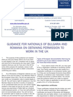Guidance for Bulgaria Romania 0408