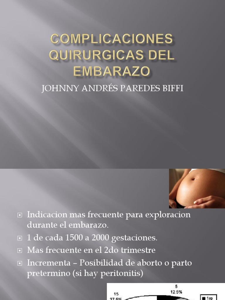 Complicaciones Quirurgicas Del Embarazo
