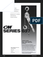 CM Series 637E Lever Hoist Manual