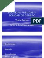 Politicas Publicas y Equidad de Genero Virginia Guzman