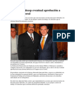 Rechazo Reforma Laboral Fedessp