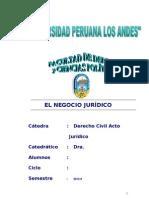 Negocio Jurídico Jorge Raúl