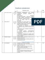 Planificare Calendaristica La Clasa Pregatitoare