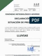 260912 PREALERTA LLUVIAS