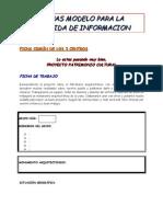 Fichas modelo para la recogida de información (alumnado)