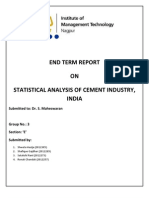 Statistical Analysis of Cement Industry(2)