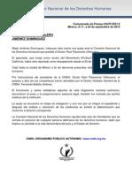 Comunicado CNDH Aleph Jiménez