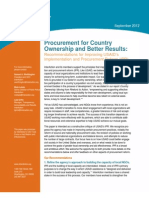 InterAction Procurement for Country Ownership and Better Results - Sept 2012