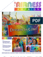 Fairness Campaign Summer/Fall 2012 Newsletter