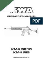 Kwa Operator's Manual - Km4, Sr10, Km4 Ris