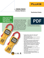 DS Fluke 355 Specifications