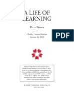 Peter Brown A Life of Learning 2003