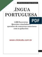 Concursos 1000 Testes de Portugues