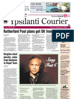 Ypsilanti Courier Front Page Sept. 27, 2012
