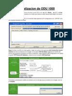 Manual Para Actualizar y Configurar ODU 1000