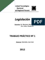 TP N° 1 - Legislación
