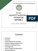 CE 211 Lecture 1