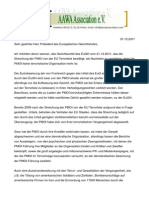 Offener Brief an EuGH- 31.12.2011