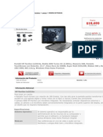 Especificaciones Laptop HP Pavilion Tx2532la