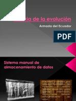 Historia de la evolución.