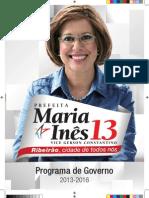 Programa de Governo Maria Inês Prefeita
