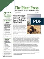 Spring 2007 The Plant Press ~ Arizona Natiave Plant Soceity
