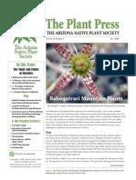 Fall 2009 The Plant Press ~ Arizona Natiave Plant Soceity