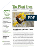 Summer 2011 The Plant Press ~ Arizona Natiave Plant Soceity