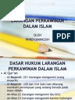 Larangan Perkawinan Dalam Islam Edit