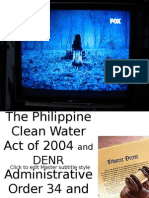 The Philippine Clean Water Act of 2004 Talaga