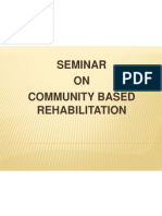 Community based rehabilitation