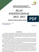 Plan Institucional 2012-2013 Completo