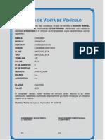 Carta de Venta de Vehículo
