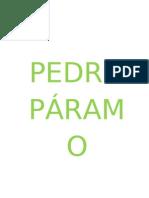PEDRO PÁRAMO monografia