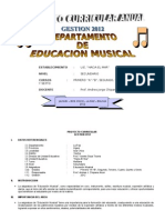 Proyecto Curricular Educacion Musical