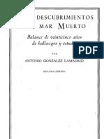 Gonzalez Lamadrid, Antonio - Los Descubrimientos Del Mar Muerto