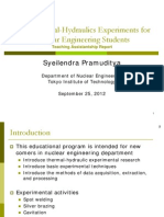 Basic Thermal-Hydraulics Experiments for Nuclear Engineering Students