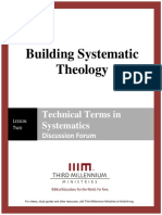 Building Systematic Theology - Lesson 2 - Forum Transcript