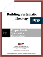 Building Systematic Theology - Lesson 3 - Forum Transcript