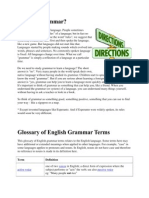 Glossary of English Grammar Terms