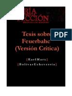 Tesis Sobre Feuerbach Traduccion de Bolivar Echeverria