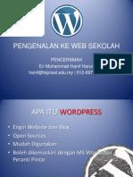 Pengenalan Ke Web Sekolah