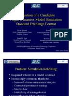 Evaluation of flight dynamics model simulation DAVEML