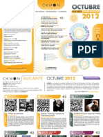 CAMON-Alicante. Programación Octubre 2012. Obra Social. Caja Mediterráneo