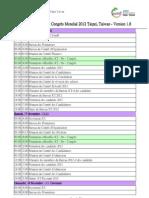 Programme - Congres Mondial 2012 Taipei, Taiwan - Version 1.8( 法)