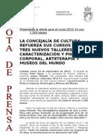 120924 NP- Cursos y Talleres Culturales 2012-13