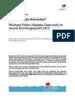 Banken in die Schranken - Reinhard Fellner (Soziales Österreich) im neuwal Sommergespräch